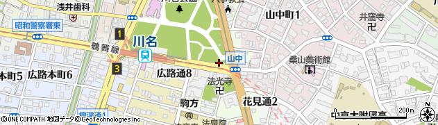 愛知県名古屋市昭和区花見通周辺の地図