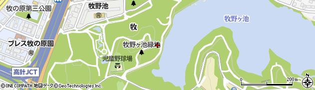 愛知県名古屋市名東区猪高町大字高針(前山)周辺の地図