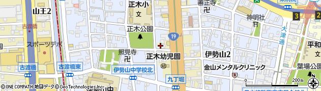 伝昌寺周辺の地図
