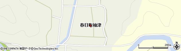 兵庫県丹波市春日町柚津周辺の地図