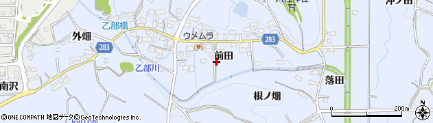 愛知県豊田市乙部町(前田)周辺の地図