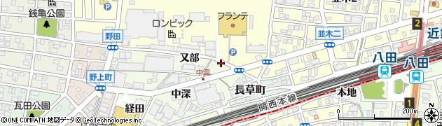 愛知県名古屋市中村区野田町(又部)周辺の地図
