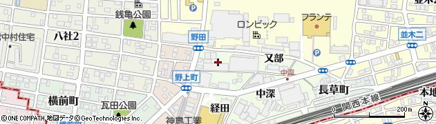 愛知県名古屋市中村区野田町(東竪出)周辺の地図