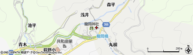 愛知県豊田市竜岡町(豊田)周辺の地図