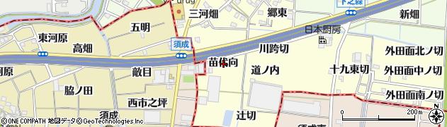 愛知県あま市七宝町徳実(苗代向)周辺の地図