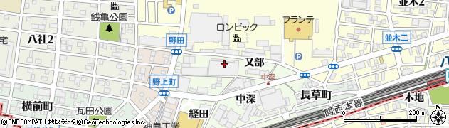 愛知県名古屋市中村区野田町(大池)周辺の地図