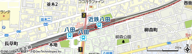 愛知県名古屋市中村区八田町(長田)周辺の地図