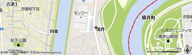 愛知県名古屋市中川区富田町大字長須賀(子新田)周辺の地図