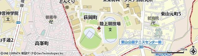 愛知県名古屋市千種区萩岡町周辺の地図