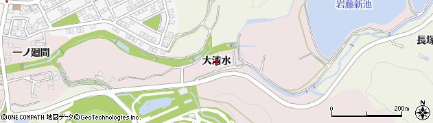 愛知県日進市岩藤町(大清水)周辺の地図