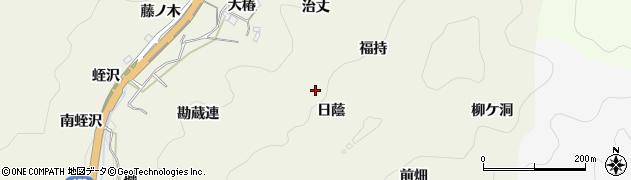 愛知県豊田市富岡町(日蔭)周辺の地図