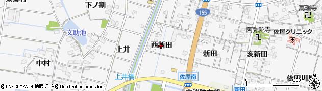 愛知県愛西市山路町(西新田)周辺の地図
