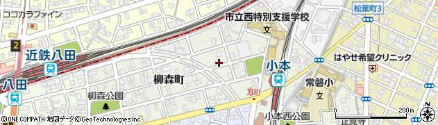 愛知県名古屋市中川区柳森町周辺の地図