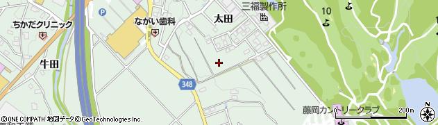 愛知県豊田市西中山町(太田)周辺の地図