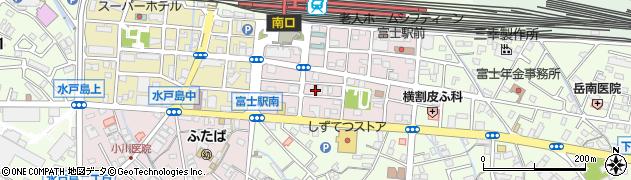 静岡県富士市横割本町周辺の地図