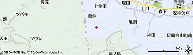 愛知県豊田市足助白山町(薑洞)周辺の地図