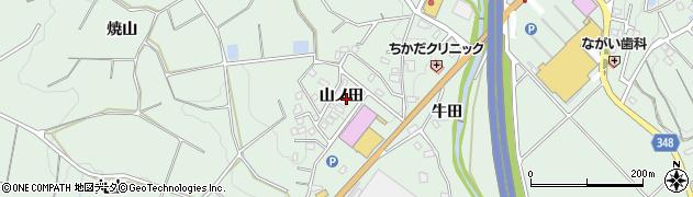 愛知県豊田市西中山町(山ノ田)周辺の地図