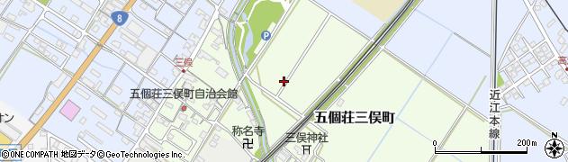 滋賀県東近江市五個荘三俣町周辺の地図