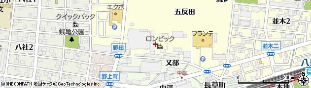愛知県名古屋市中村区岩塚町(大池)周辺の地図