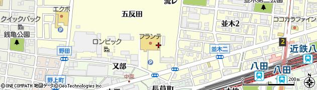 愛知県名古屋市中村区岩塚町(西枝)周辺の地図
