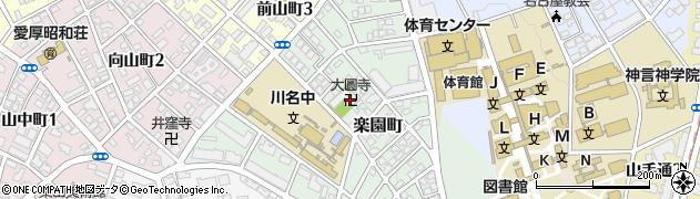 大圓寺周辺の地図