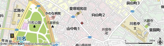母子寮周辺の地図