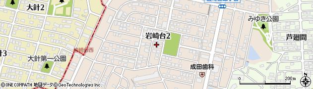 愛知県日進市岩崎台周辺の地図