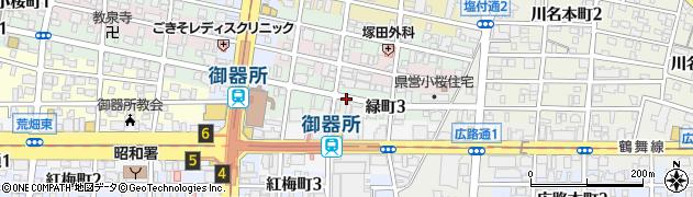 愛知県名古屋市昭和区緑町周辺の地図