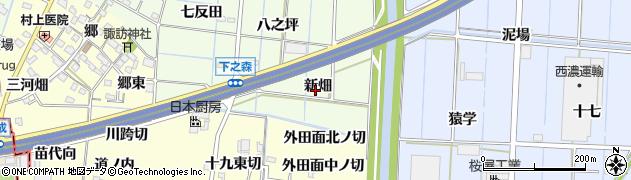愛知県あま市七宝町下之森新畑周辺の地図