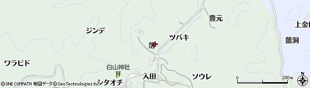 愛知県豊田市大塚町(落)周辺の地図