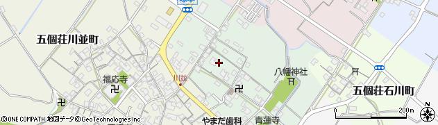 滋賀県東近江市五個荘塚本町周辺の地図