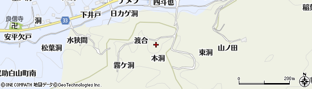 愛知県豊田市富岡町(渡合)周辺の地図