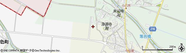 滋賀県東近江市今在家町周辺の地図