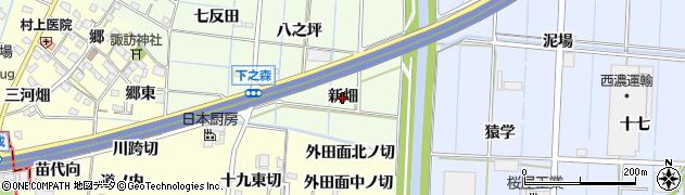 愛知県あま市七宝町下之森(新畑)周辺の地図