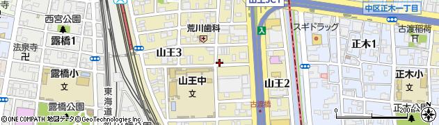 愛知県名古屋市中川区山王周辺の地図
