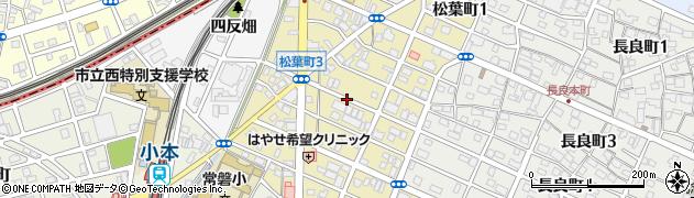 愛知県名古屋市中川区松葉町周辺の地図