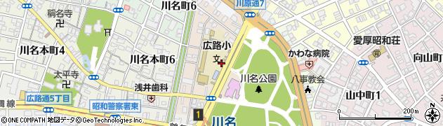 愛知県名古屋市昭和区川原通周辺の地図