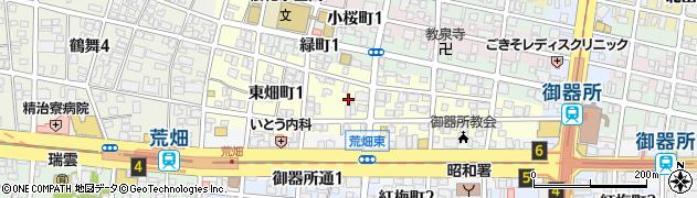 愛知県名古屋市昭和区東畑町周辺の地図