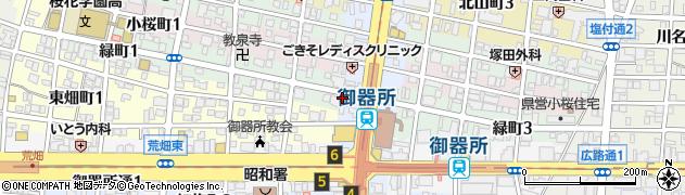 バル タック BAR TACK 御器所店周辺の地図