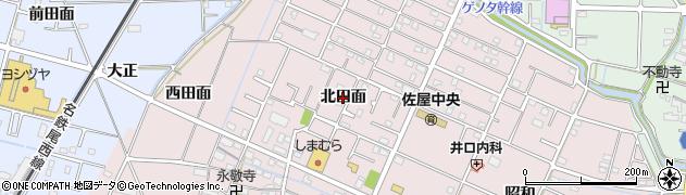 愛知県愛西市北一色町(北田面)周辺の地図