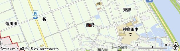 愛知県津島市中一色町(西訳)周辺の地図