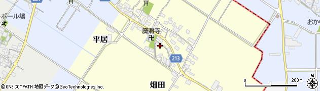 滋賀県愛知郡愛荘町畑田周辺の地図