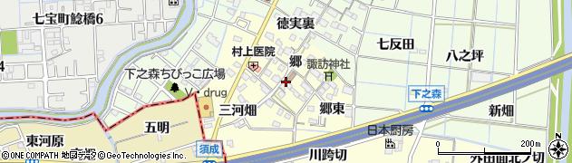愛知県あま市七宝町徳実(郷)周辺の地図