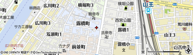 山田家中川店周辺の地図