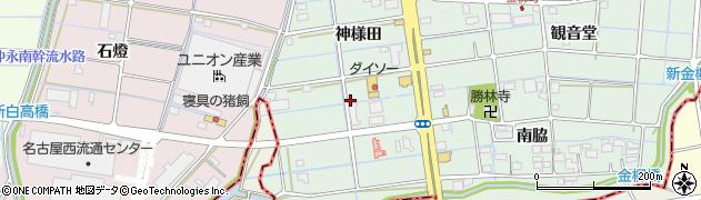 愛知県津島市金柳町(神様田)周辺の地図