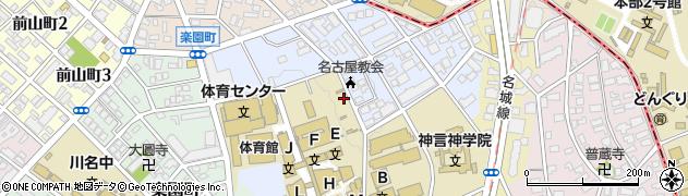 愛知県名古屋市昭和区八雲町周辺の地図