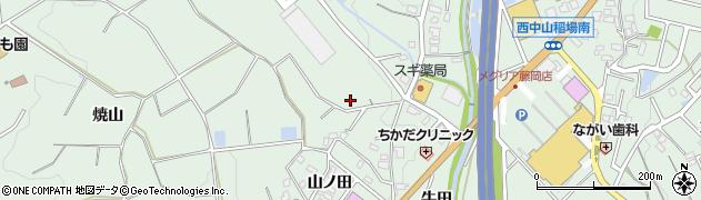 愛知県豊田市西中山町(才ケ洞)周辺の地図