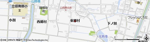 愛知県愛西市山路町(東郷付)周辺の地図