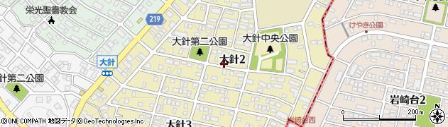愛知県名古屋市名東区大針周辺の地図
