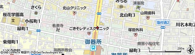 愛知県名古屋市昭和区阿由知通周辺の地図